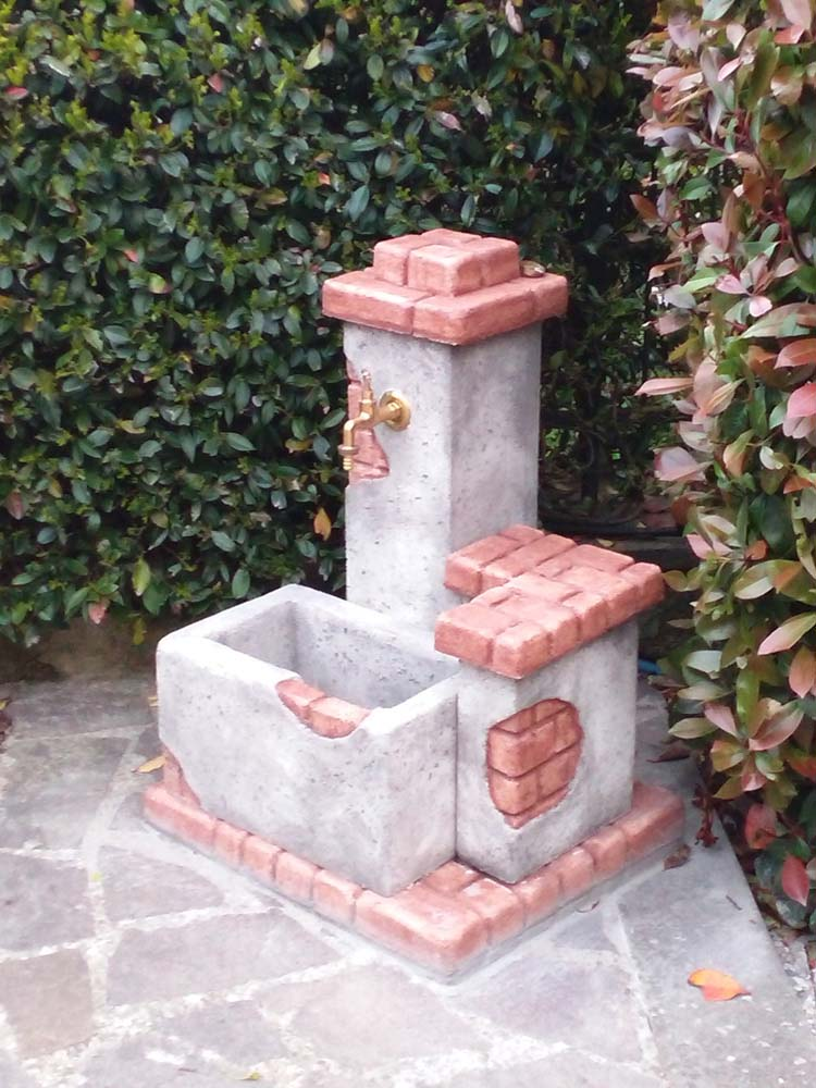 Fonte del casale r c di rinaldi geom franco - Fontane a parete da giardino ...