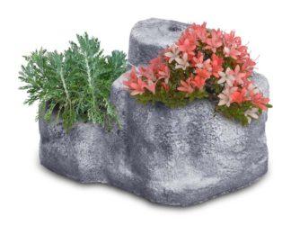 base media in finta roccia per lampada da giardino col. antichizzato, cod. 11PLMAT