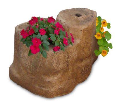 base media in finta roccia per lampada da giardino col. old stone, cod. 11PLMOS