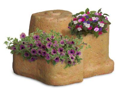 base media in finta roccia per lampada da giardino col. pietre del borgo, cod. 11PLMP