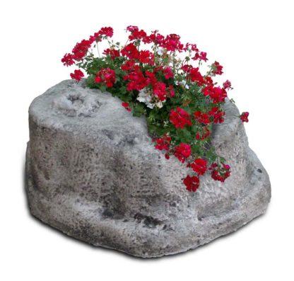 base piccola in finta roccia per lampada da giardino col. antichizzato, cod. 11PLPAT
