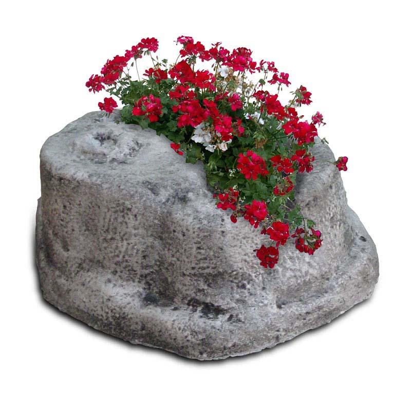 Base piccola in finta roccia per lampada da giardino r c - Rocce per giardino ...
