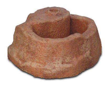 base piccola in finta roccia per lampada da giardino col. mattone, cod. 11PLPM