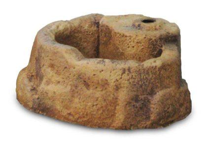 base piccola in finta roccia per lampada da giardino col. old stone, cod. 11PLPOS