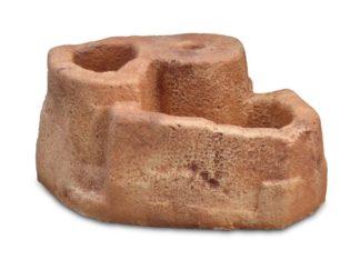 base grande in finta roccia per lampione da giardino col. mattone, cod. 11PLGM