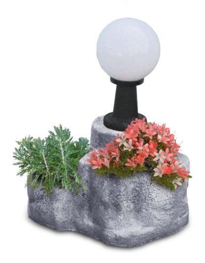 lampada da giardino con base media in finta roccia col. antichizzato, cod. 11PLMATL