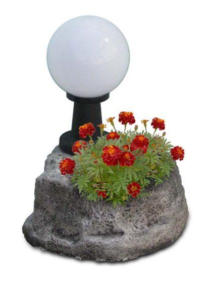 lampada da giardino con base piccola in finta roccia col. antichizzato, cod. 11PLPATL