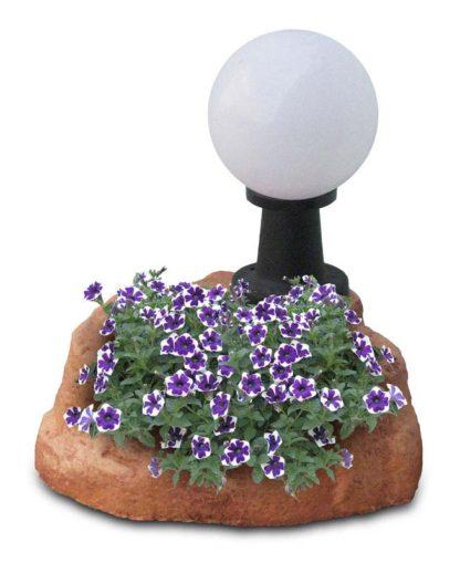 lampada da giardino con base piccola in finta roccia col. mattone, cod. 11PLPML