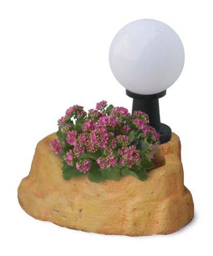 lampada da giardino con base piccola in finta roccia col. pietre del borgo, cod. 11PLPPL