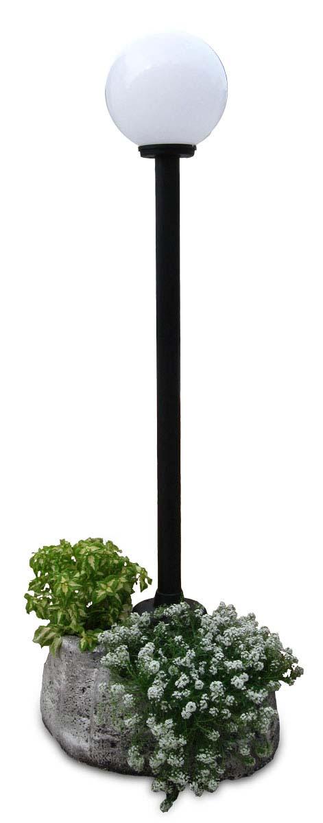 Lampione da giardino con base grande in finta roccia r c - Lampioni giardino ikea ...