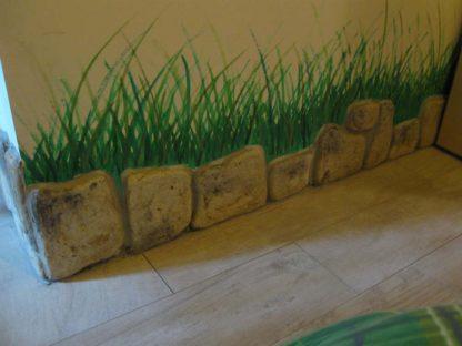 pietre murali Toscana colorazione personalizzata, utilizzate come battiscopa, località: Lendinara (Rovigo)