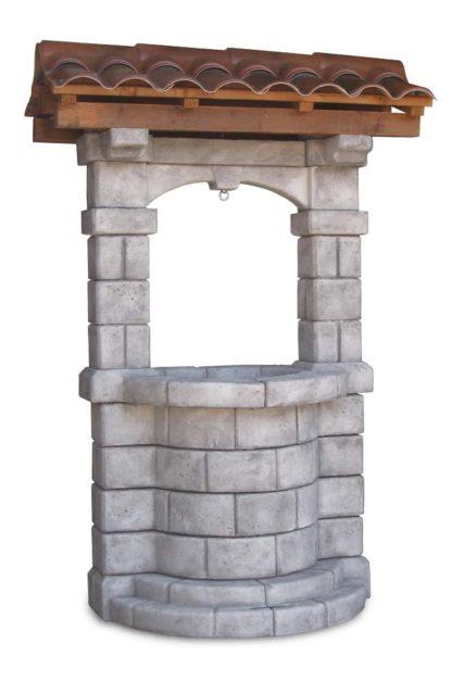 pozzo da giardino Brenta con tetto col. antichizzato, cod. 06PBTAT versione attuale