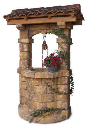 pozzo da giardino Brenta con tetto col. old stone, cod. 06PBTOS versione attuale