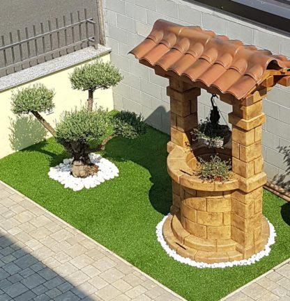 pozzo da giardino Brenta con tetto col. old stone, cod. 06PBTOS, località: Parabiago (Milano)