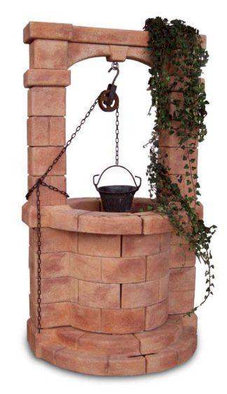 pozzo da giardino Brenta col. mattone, cod. 06PBM