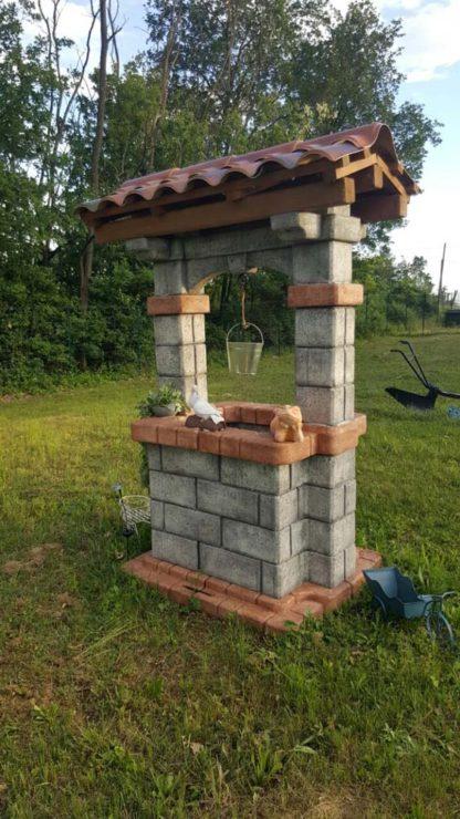 pozzo da giardino country col. antichizzato, cod. 06PCAT, località: Rivalta Bormida (Alessandria)