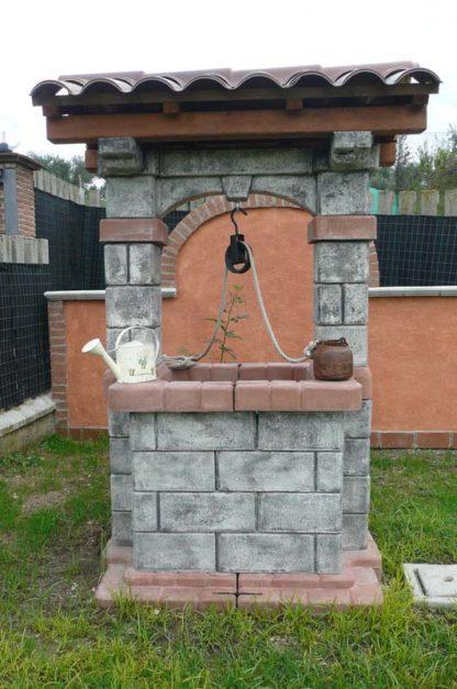 pozzo da giardino country col. antichizzato, cod. 06PCAT, località: Sant'Angelo Romano (Roma)