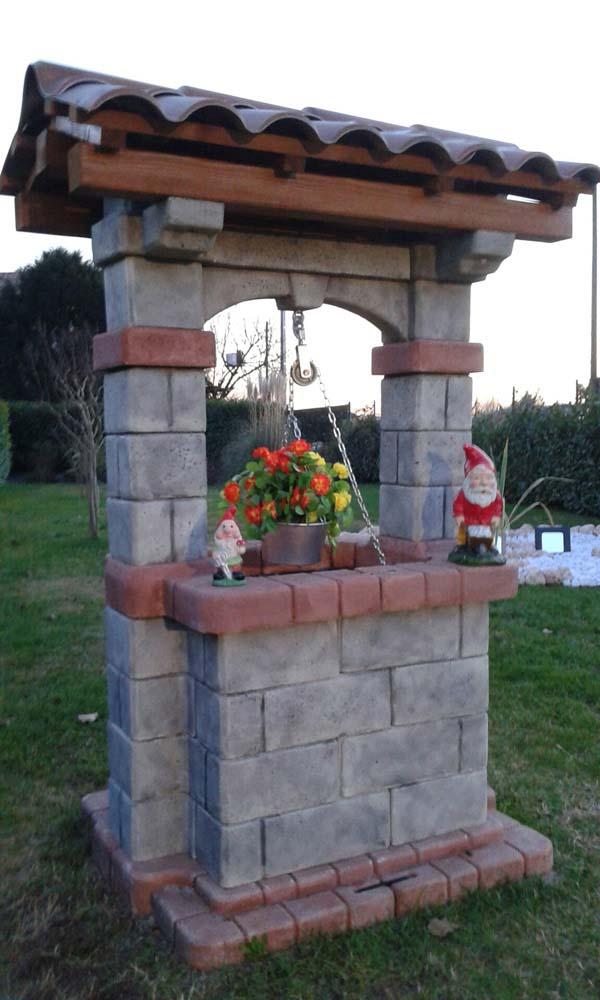 Pozzo country r c di rinaldi geom franco for Pozzi finti per giardino