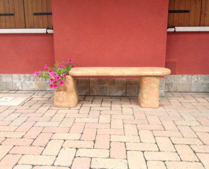 panchina roccia col. pietre del borgo, cod. 04PRP, località: Fratta Polesine (Rovigo)