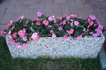 fioriera rettangolare 80x25 ghiaia colorata, cod. 01FR80C, località: Chivasso (Torino)