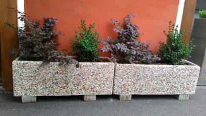 fioriera rettangolare 80x25 ghiaia colorata, cod. 01FR80C, località: Ferrara