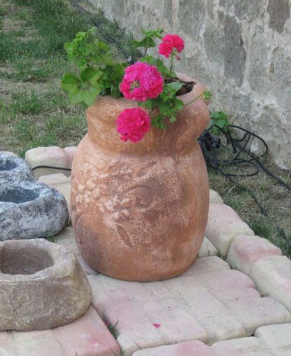 vaso oleandro col. mattone, cod. 01VOM, esposto alla manifestazione Rocca in fiore, località: Monselice (Padova)