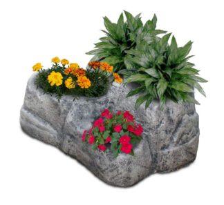 vaso roccioso 3 spazi col. antichizzato, cod. 02VR3AT