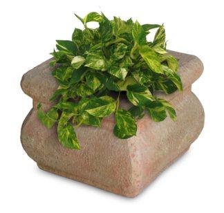 vaso Volterra quadrato 40 col. pietre del borgo, cod. 02VVQU40P