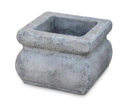 vaso Volterra quadrato 50 col. antichizzato, cod. 02VVQU50AT