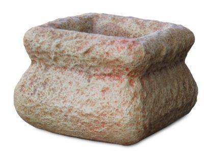 Vaso quadrato con bordo col. pietre del borgo