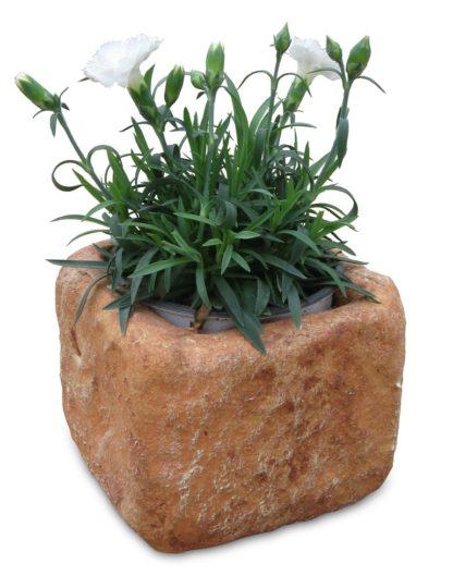 Vaso quadrato col. mattone