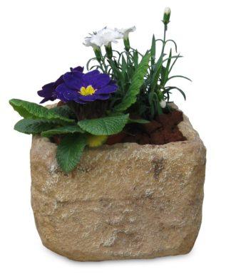 Vaso quadrato col. old stone